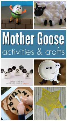 Mother Goose Crafts and Activities Mother Goose inspired crafts and activities for a Mother Goose theme in preschool or kindergarten.