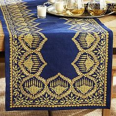 Shop for Hanukkah Metallic Table Runner by Pottery Barn at ShopStyle. Hanukkah Crafts, Jewish Crafts, Hanukkah Decorations, Outdoor Christmas Decorations, Holiday Decor, Family Holiday, Holiday Fun, Holiday Ideas, Christmas Time