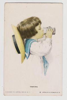 """Bessie Pease Gutmann """"Tasting"""" 1909"""