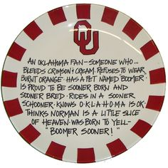 OU Sooner Fan Plate--- Not a tutorial, but I can make this!