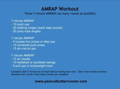 Peanut Butter Runner AMRAP Workout