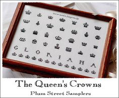 The Queen's Crowns 完成 Cross Stitch Samplers, Cross Stitching, Cross Stitch Embroidery, Cross Stitch Finishing, Queen Crown, Le Point, Needlework, Notes, Crafty