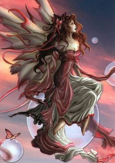 Daybreak by Nene Thomas Fairy Myth Mythical Mystical Legend Elf Faerie Fae Wings Fantasy Elves Faries Sprite Nymph Pixie Faeries Hadas Enchantment Forest Whimsical Whimsy Mischievous Fantasy Kunst, Fantasy Art, Fantasy Fairies, Angels And Fairies, Magical Creatures, Fantasy Creatures, Elfen Fantasy, Illustration Fantasy, Fairies Photos