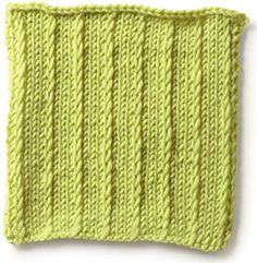 Simple Slip Stitch ((multiple of 4 sts plus 3)  Row 1 (RS) K1, *sl 1, k3; rep from *, end sl 1, k1.  Row 2 Purl.  Rep rows 1 and 2.