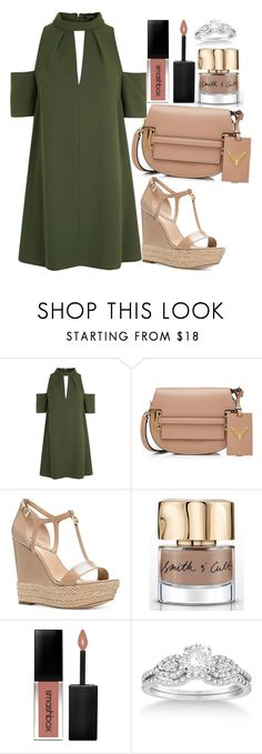 """""""Untitled#1529"""" by mihai-theodora ❤ liked on Polyvore featuring Topshop, Valentino, Michael Kors, Smith & Cult, Smashbox and Allurez"""