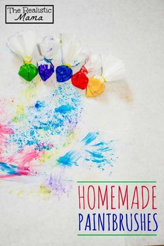 Coffee Filter Crafts | Homemade Paintbrushes