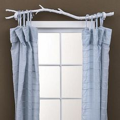 DIY Branch Curtain Rod - this would be adorable in my daughter's room...or maybe in my room :)