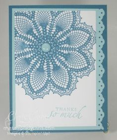 Stampin' Up Hello Doily Thank You Card