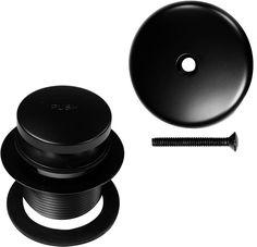 Westbrass Tip-Toe Coarse Thread Tub Trim Set with 1-Hole Overflow Faceplate, Matte Black, R93-62 - - Amazon.com