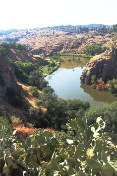 Beautiful shot of ravine in Toledo, Spain.