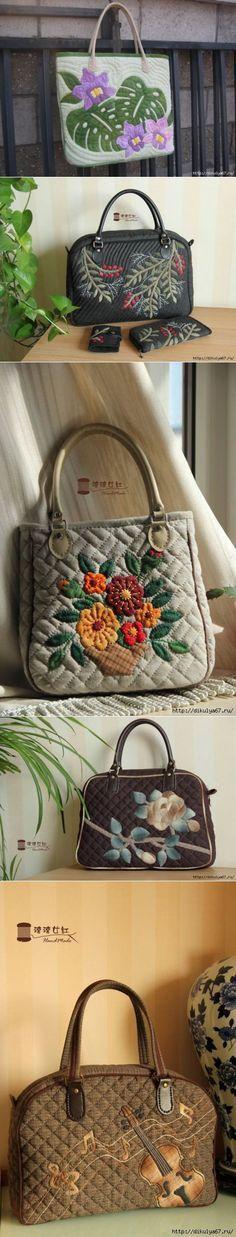 Чудесные лоскутные сумочки