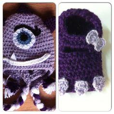 www.facebook.com/ateliervivifezarte #crochetmonsterhat #crochetmonster #crochetforkids