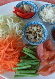 Ingrédients – Salade de Papaye verte (Som Tam)