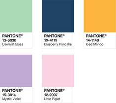 Color play palette from Pantone spring/summer 2019 color trends.