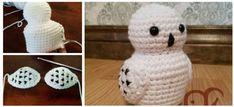 Owl Knitting Pattern, Owl Crochet Patterns, Crochet Owls, Owl Patterns, Crochet Geek, Crochet Animals, Crochet Baby, Harry Potter Crochet, Harry Potter Owl