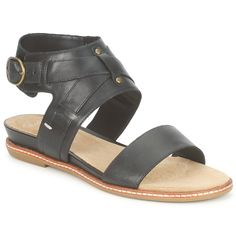 9af70604ede1b4 ORSINO CAFE BLACK   Leather  ClarksWomenSandals - £ 26.99 Clarks Sandals