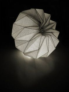 """idreamcreateandadmire: """" Fractales, by Diego Battista y Darío Stanziano From Fractales, textile pendant lamps that combine fine tailoring and mathematical concepts. The lamps are """"the result of a."""