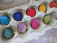 blah: egg carton/TADA!: use it to organize your craft materials