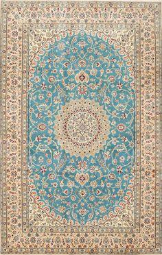 Persian Nain rug, wool and silk