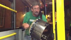 Bodhran Player on Dublin Bus - Best Bus Journey Ever!
