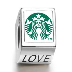 Soufeel Starbucks coffee logo photo love European charm bead