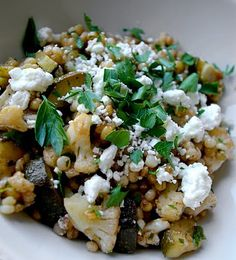 Wheatberry Salad with Goat Cheese and Farro