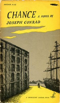"""Edward Gorey vintage cover for """"Chance"""", by Joseph Conrad."""