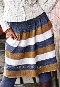 Вязание красивой теплой юбки спицами для женщин: схема с описанием