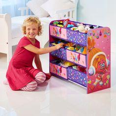 Organizador de juguetes infantiles Trolls. Un juguetero infantil ideal para almacenar todos sus juguetes. #bainba