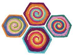 Granny Square Hexagon TwistySix  crochet door ElealindaDesign, €2.99