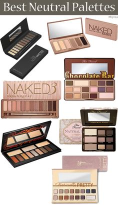 I've had many of you ask me which neutral palettes I think are best. I'm sharing my picks for the best neutral eyeshadow palettes with you today and why I Neutral Eyeshadow Palette, Neutral Palette, Makeup Palette, Mime Makeup, Beauty Makeup, Eyeshadow Makeup, Eye Palettes, Makeup Brands, Makeup Addict