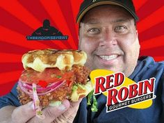 Red Robin® The Bee's Knees Chicken and Waffles Sandwich with Joey's World Tour! Review with The Endorsement!
