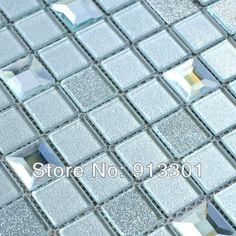 glass mosaic wall mirror tiles grey edgin pattern mirror tile mosaic