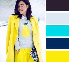 Сочетание оттенков желтого в одежде. Как сочетать модные цвета в одежде 2017