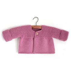 Knitted Baby Cardigan – PINK LADY –Free Knitting pattern, step by step pictorial guide as to how to complete this baby sweater knitting pattern. Considered easy to knit. Baby Cardigan Knitting Pattern Free, Baby Romper Pattern, Baby Booties Free Pattern, Baby Sweater Patterns, Knitted Baby Cardigan, Knit Baby Sweaters, Cardigan Pattern, Baby Knitting Patterns, Baby Patterns