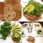 pancake con farina integrale e senza lievito, con salmone rughetta e avocado