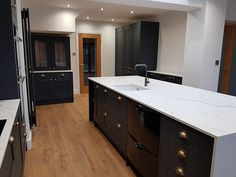 At Benchmarx we provide the highest quality kitchens, flooring, doors and joinery, accessing top brands at trade prices nationwide. Benchmarx Kitchen, Kitchen Ideas, Calcutta Gold, Big Houses, Joinery, Midnight Blue, Small Spaces, Quartz, Traditional Kitchens