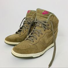 various colors aebd1 8c63a Nike Shoes   Rare Nike Dunk Sky High Olive Green Suede High Top   Color