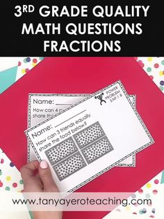 This 3rd grade math resource includes quality word problems for 3.NF.1 - 3rd grade fractions. Use these 3rd grade math questions for 3rd grade test prep, 3rd grade math review, 3rd grade morning work, and 3rd grade math practice. These 3rd grade math word problems are just what you need! These cards come in print form and digital form for distance learning and homeschooling! 3rd Grade Fractions, 3rd Grade Math, 3rd Grade Words, Spiral Math, Math Questions, Levels Of Understanding, Math Word Problems, Math Practices, Problem Solving Skills