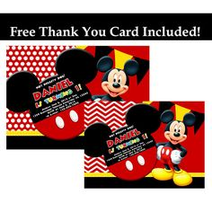 Printable Mickey mouse birthday party photo by BeHappyDesign