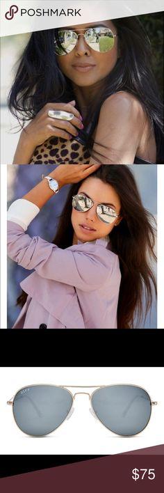 eae03f581 •COMING SOON• DIFF Eyewear Cruz - Gold/Silver DIFF eyewear are the hottest  · Mirrored AviatorsMirrored ...