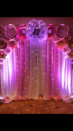 Paper Flower Backdrop perfect for weddings, birthday parties, proms and more!