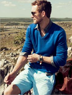 Classic. Sky blue and ice blue. J.CREW Stylebook Men march 2012