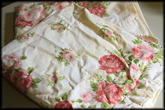 Method for cleaning yellowed vintage embroidered pillow cases
