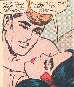 "Comic Girls Say... "" Wouldn't you like to know"" #comic #vintage #popart"