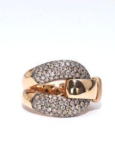 1.56ctw Diamond Buckle Ring