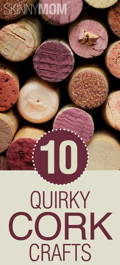 10 Quirky Cork Crafts!!!! Wine corks have been trending in design since last year and they seem to be here to stay. Even if you aren't a wine lover, these DIYs will still add a kick of flavor to any of your living spaces!!!