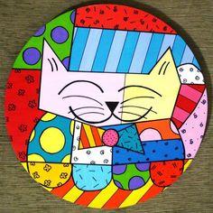 Romero Britto - Artista Brasileiro Graffiti, Cat Attack, Foster Kittens, Doodles Zentangles, Arte Pop, Stone Art, Decoration, Pop Art, Mosaic