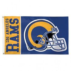 Los Angeles Rams Deluxe 3'x5' Flag - Classic Logo Retro (backorder)