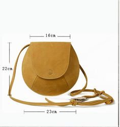 Leather Crossbody Bag-Yellow Small Purse for Women by KiliDesign